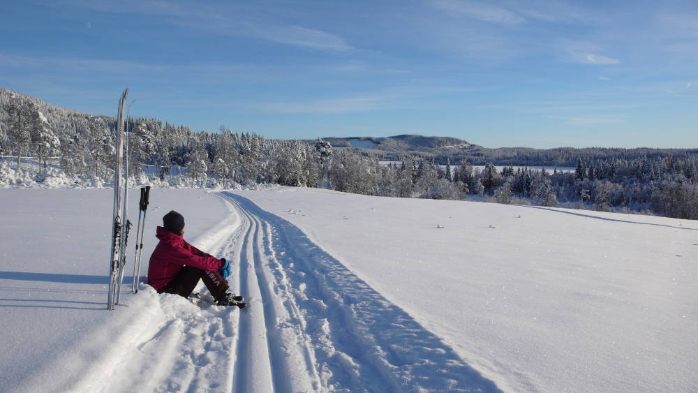 Cross country skiing at Landåsen.
