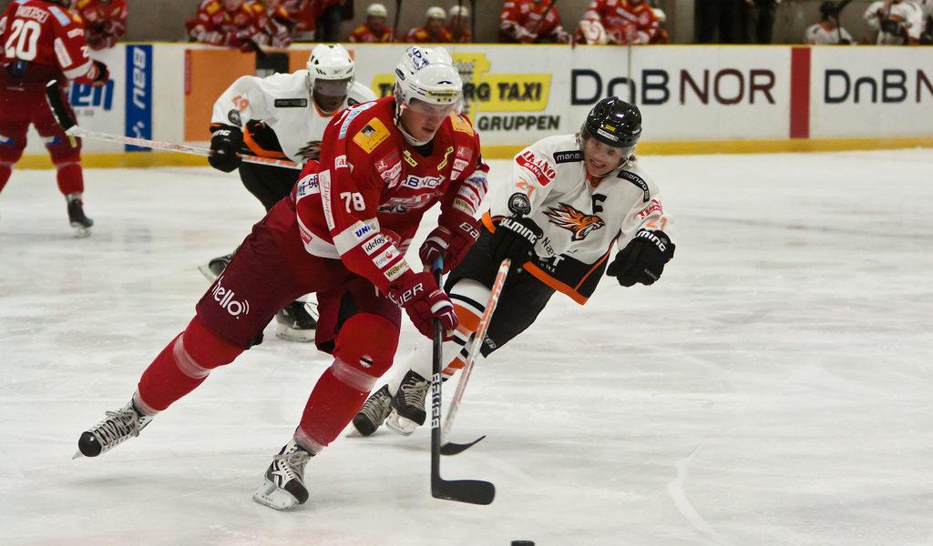 Hockey game in Norway
