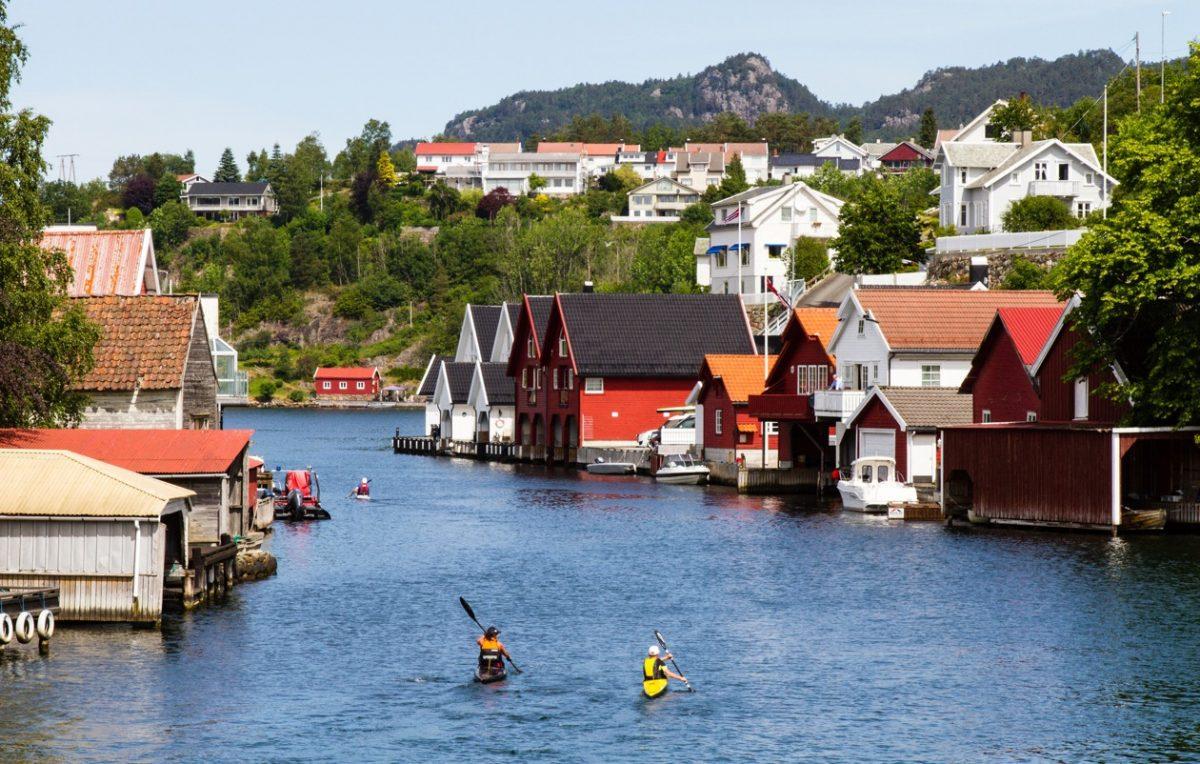 Kayaking in Flekkefjord
