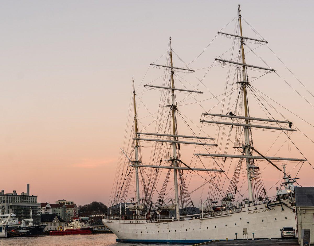 Old ship in Bergen harbour