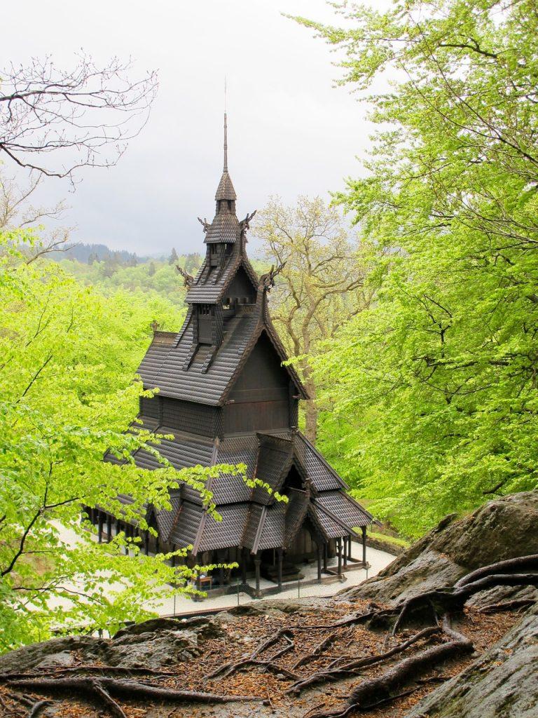 Stave Church in Fantoft