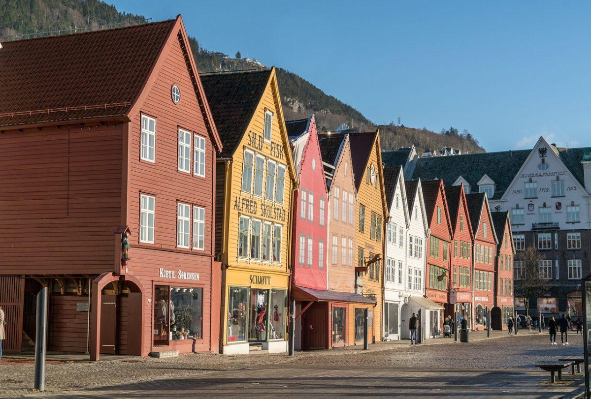 A view down Bryggen