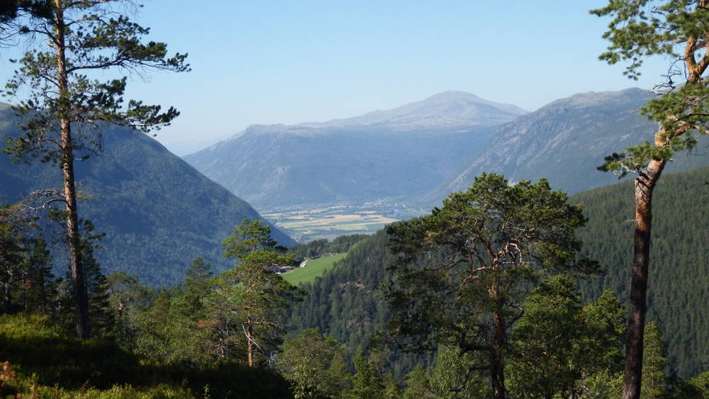 Looking down at Gudbrandsdalen from the road up to Mysuseter