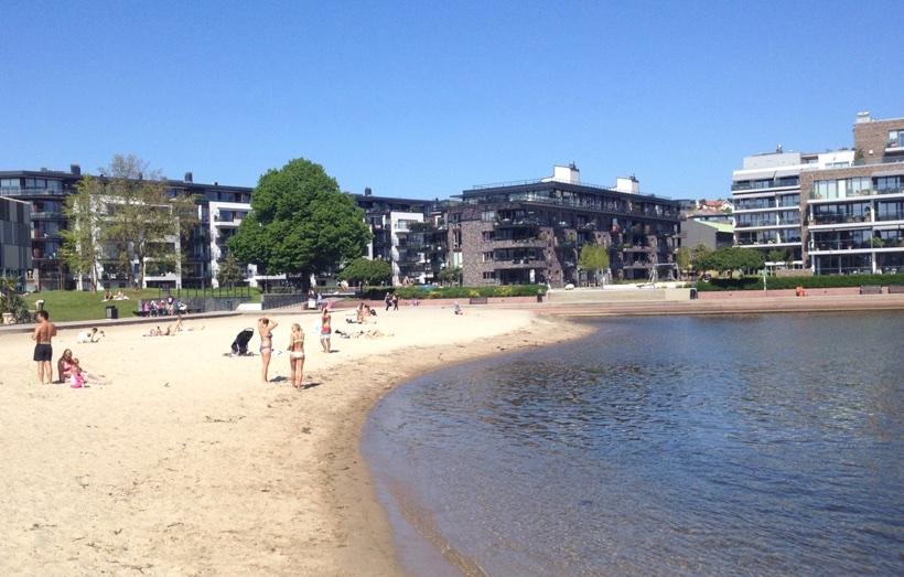 The city beach of Kristiansand