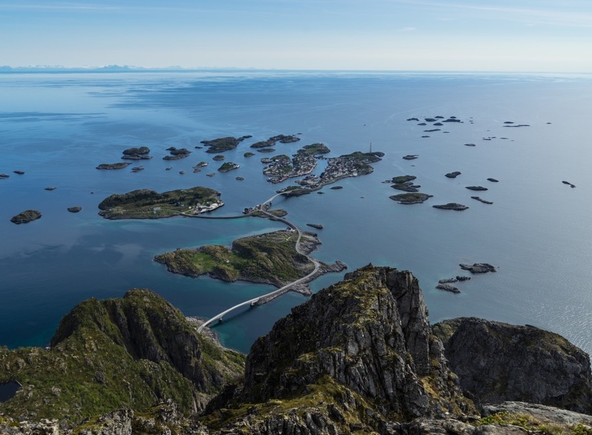 Henningsvær from above
