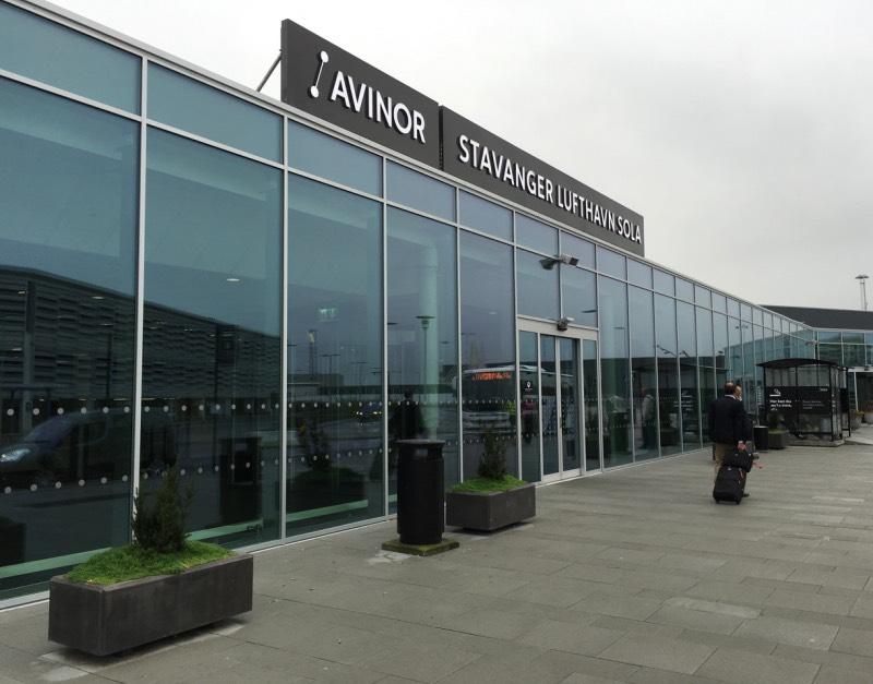 Outside Stavanger Airport