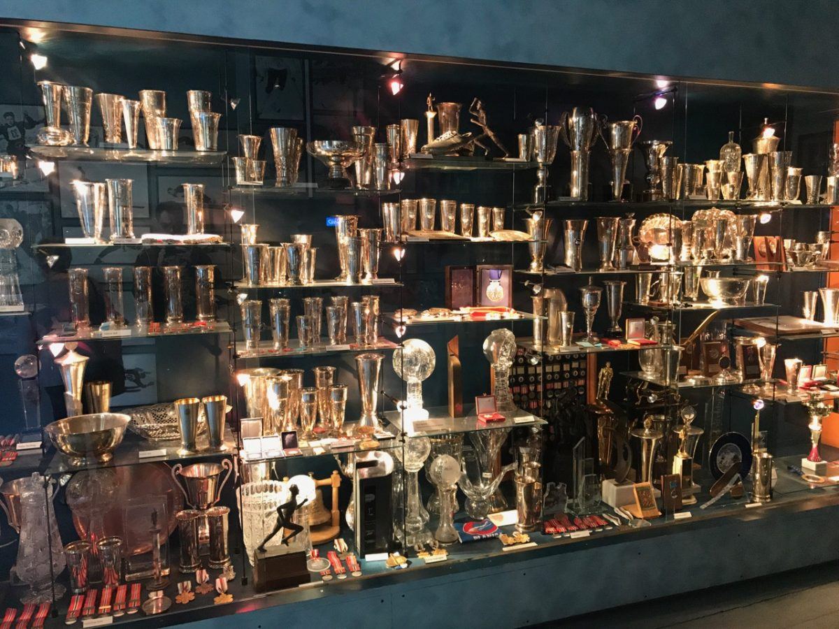 Trophy room at the ski museum