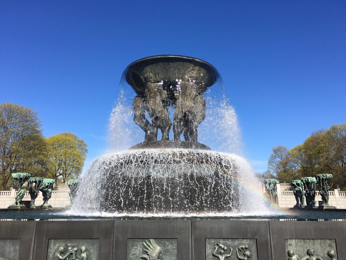 Feature fountain in Frogner Park