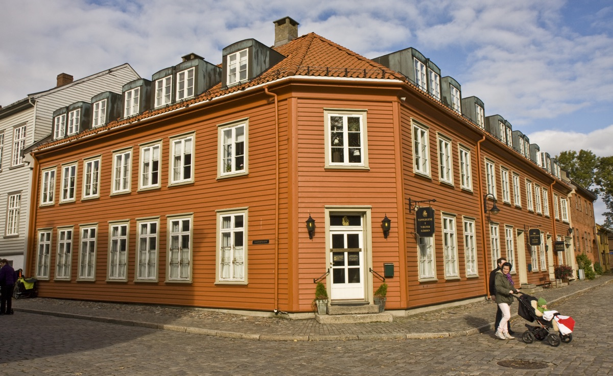 Fredrikstad Old Town is an easy day trip from Oslo, Norway