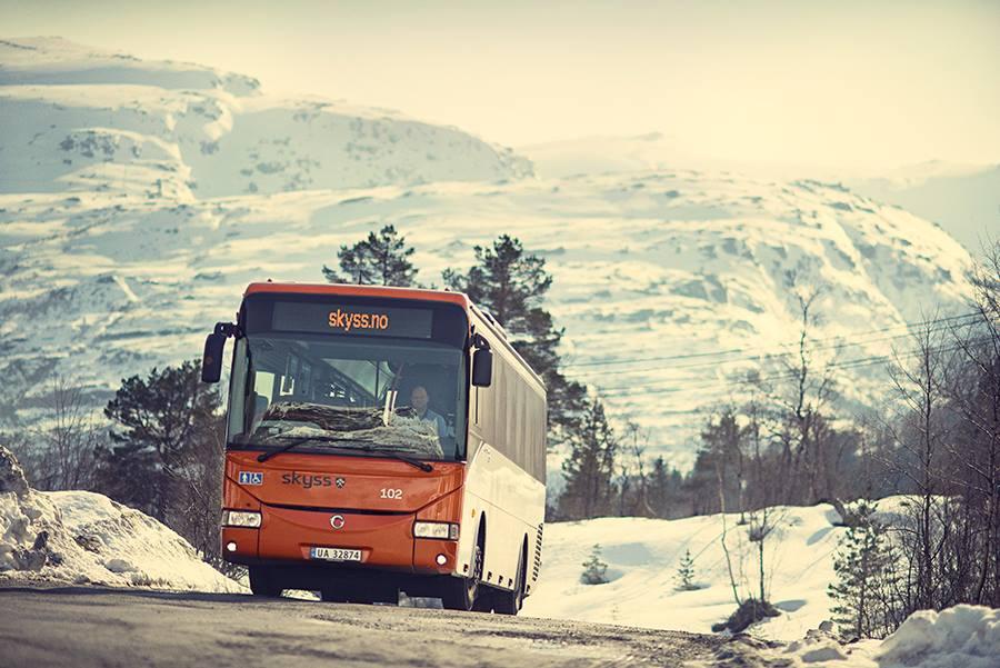 Public bus in Bergen