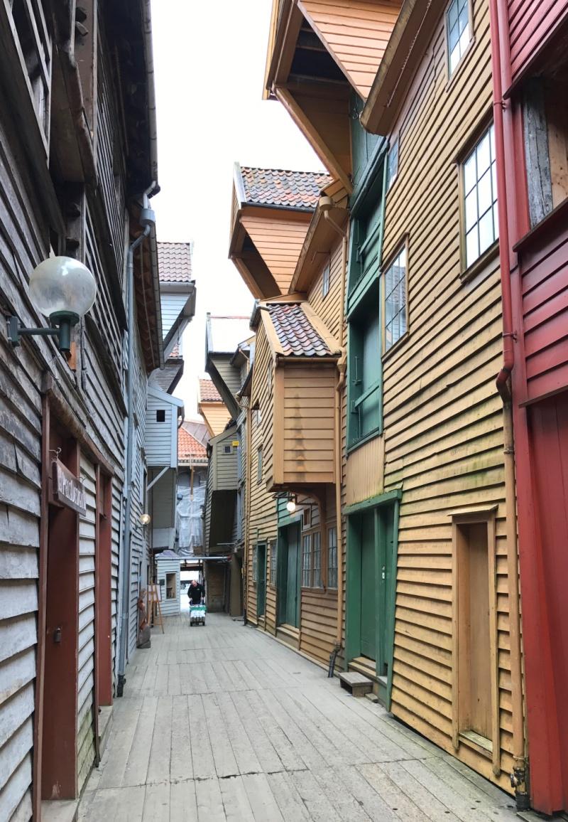 The alleyways of Bryggen