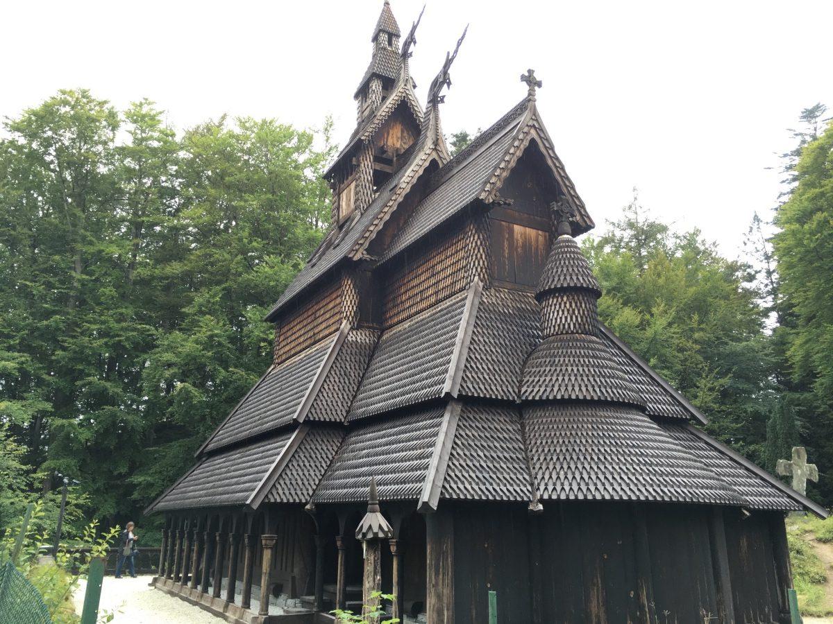Exterior of Fantoft Church
