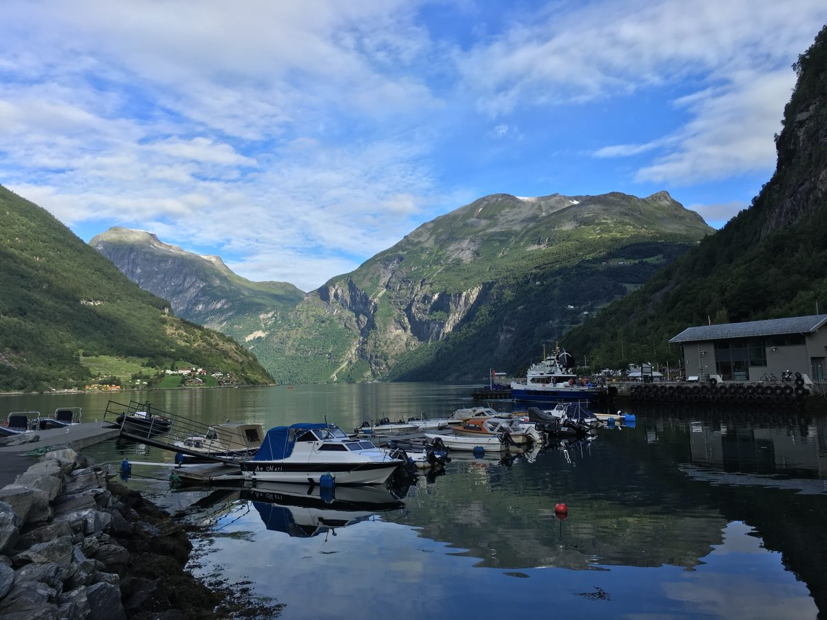 View of the fjord from Geiranger village