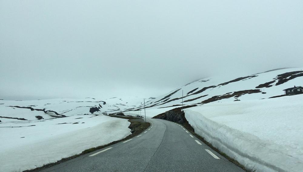 Snow roads in Norway