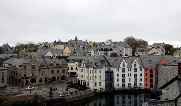 View across Ålesund canal