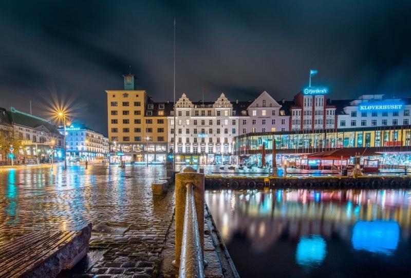 Norway by night: Bergen Fish Market