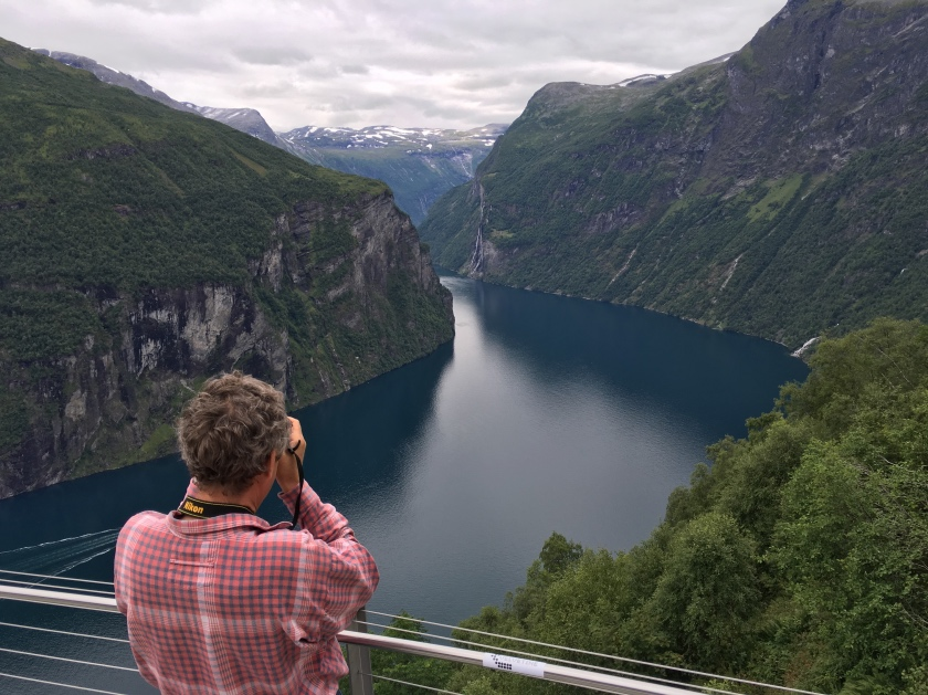 Photography at the Geirangerfjord viewpoint