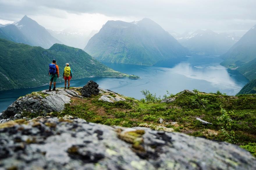 Hiking near Sæbø, Hjørundfjord