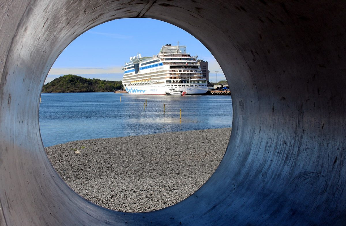 Cruise ship visiting Oslo