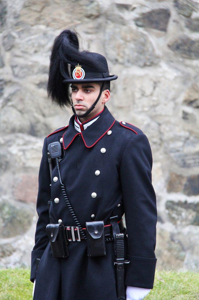 Guarding Akershus Fortress