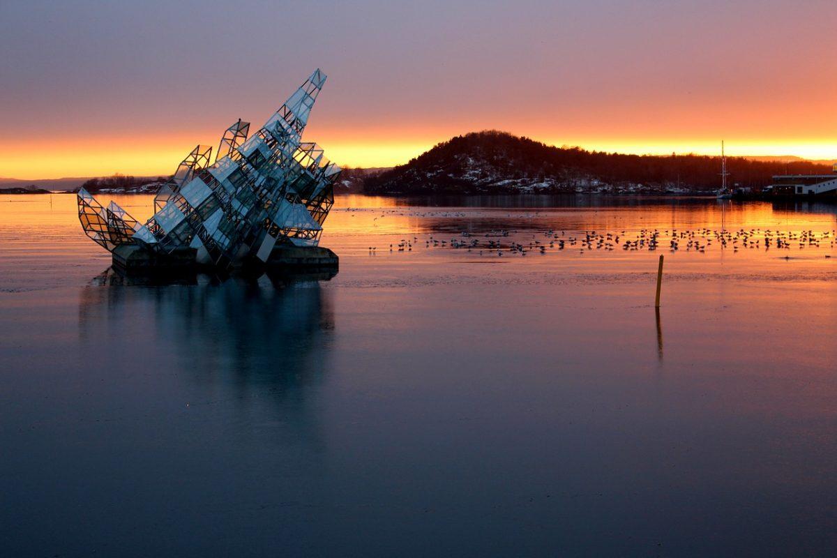 Sunset from Oslo Opera House