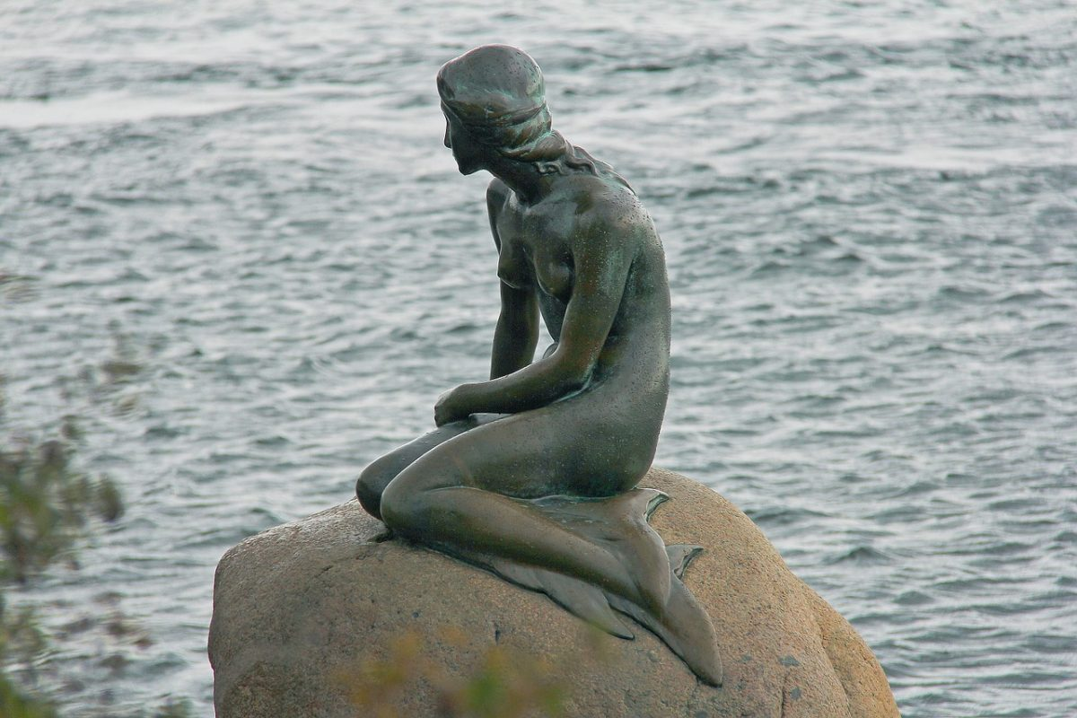 Mermaid sculpture in Copenhagen