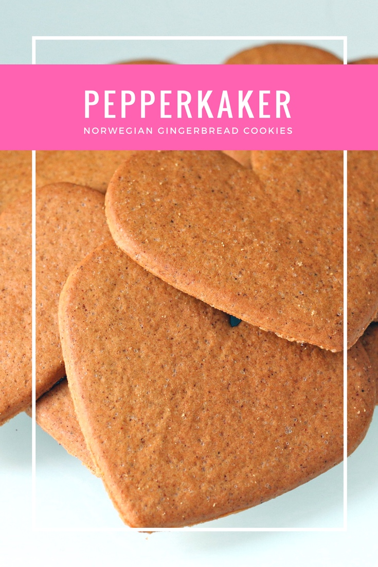 Pepperkaker: Norwegian gingerbread cookies are typically eaten during the Christmas period with tea, coffee or mulled wine.