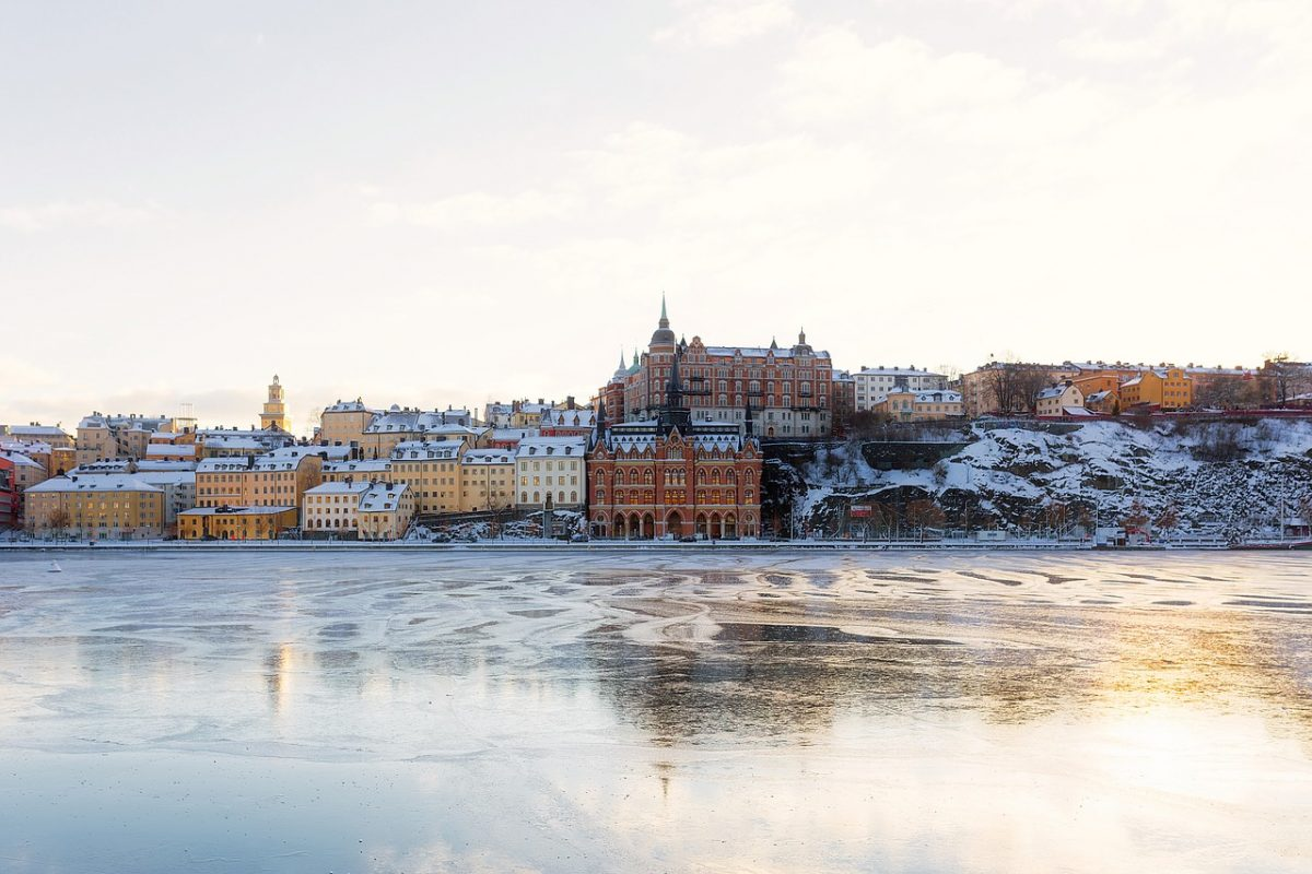 Stockholm winter cityscape