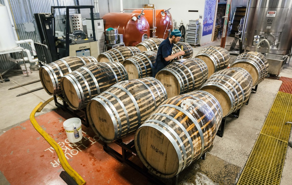 Barrels of aquavit