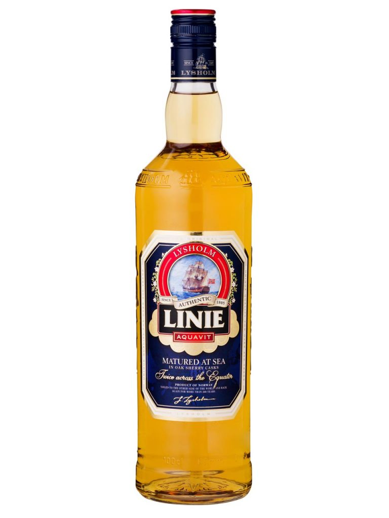 Norwegian aquavit: The very Scandinavian spirit is flavoured with caraway or dill and sent on an ocean voyage in oak barrels before it can be drunk!