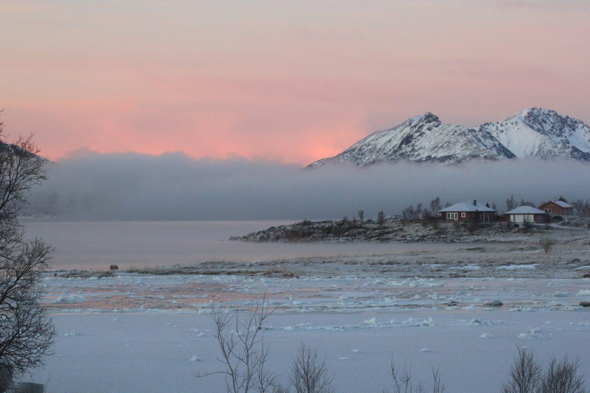 Twilight in winter Norway