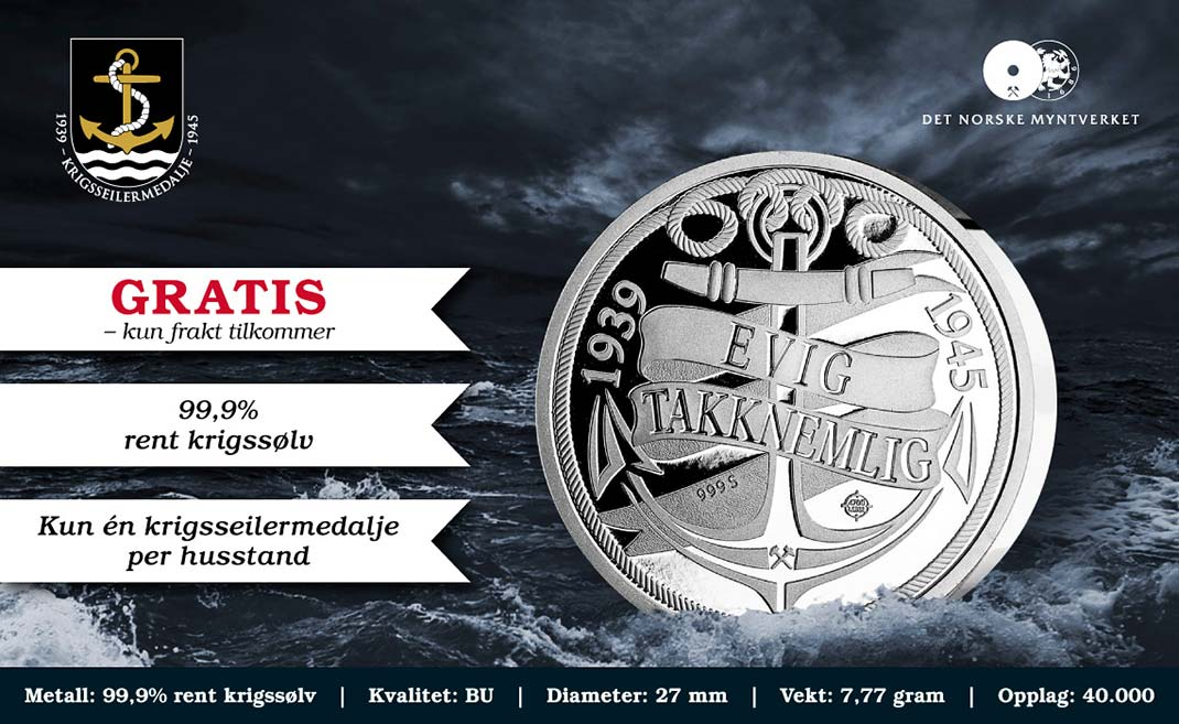 Norway war coin