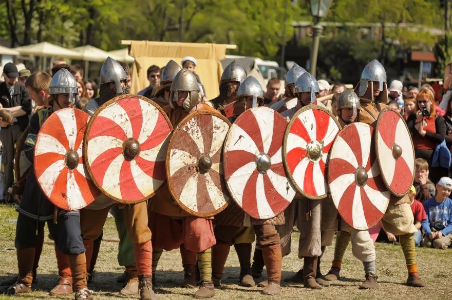 Viking reenactment in Norway