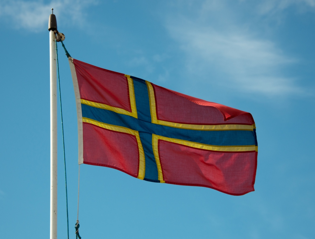 The flag of Orkney is a Nordic cross