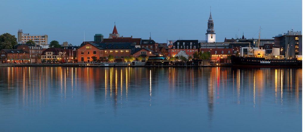 The city of Aalborg, Denmark