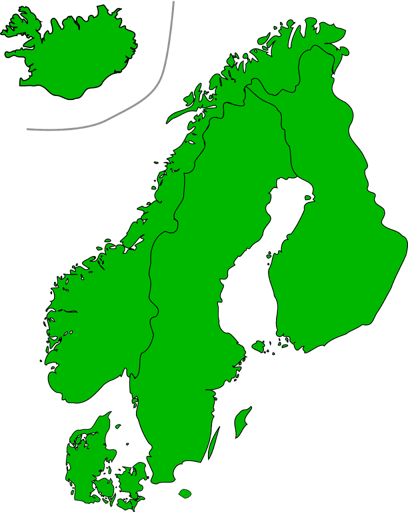 Location map of Scandinavia