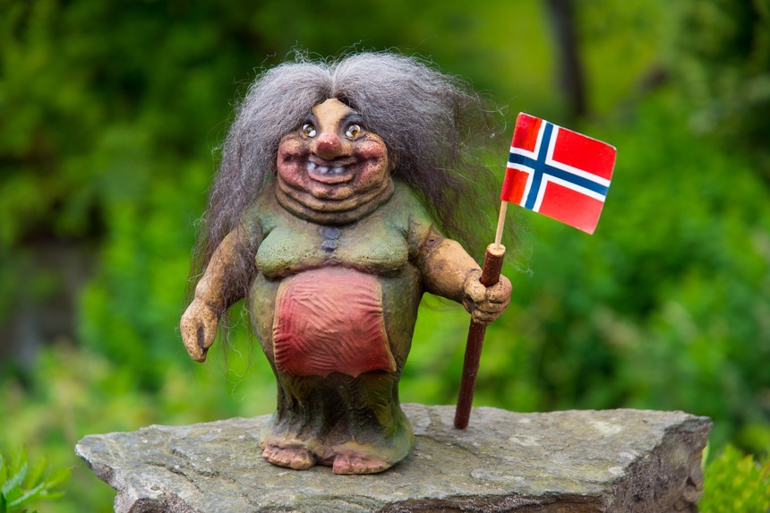 How to become a norwegian citizen norway troll holding a flag stopboris Choice Image