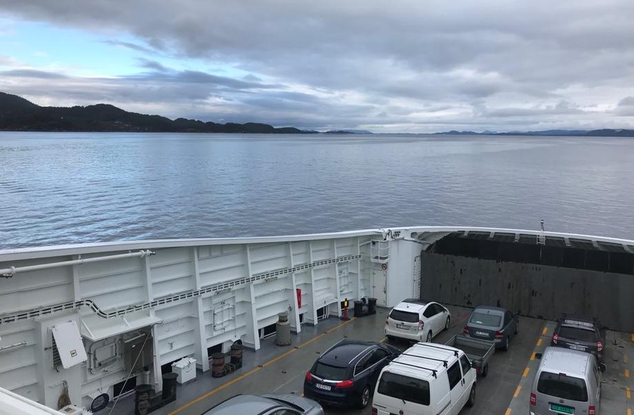 On board the Sandvikvag to Halhjem car ferry