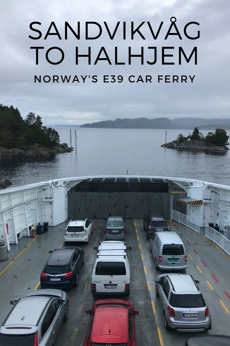 Norway's E39 car ferry from Sandvikvåg to Halhjem is a vital transport link through the Norwegian fjords between Bergen and Stavanger.
