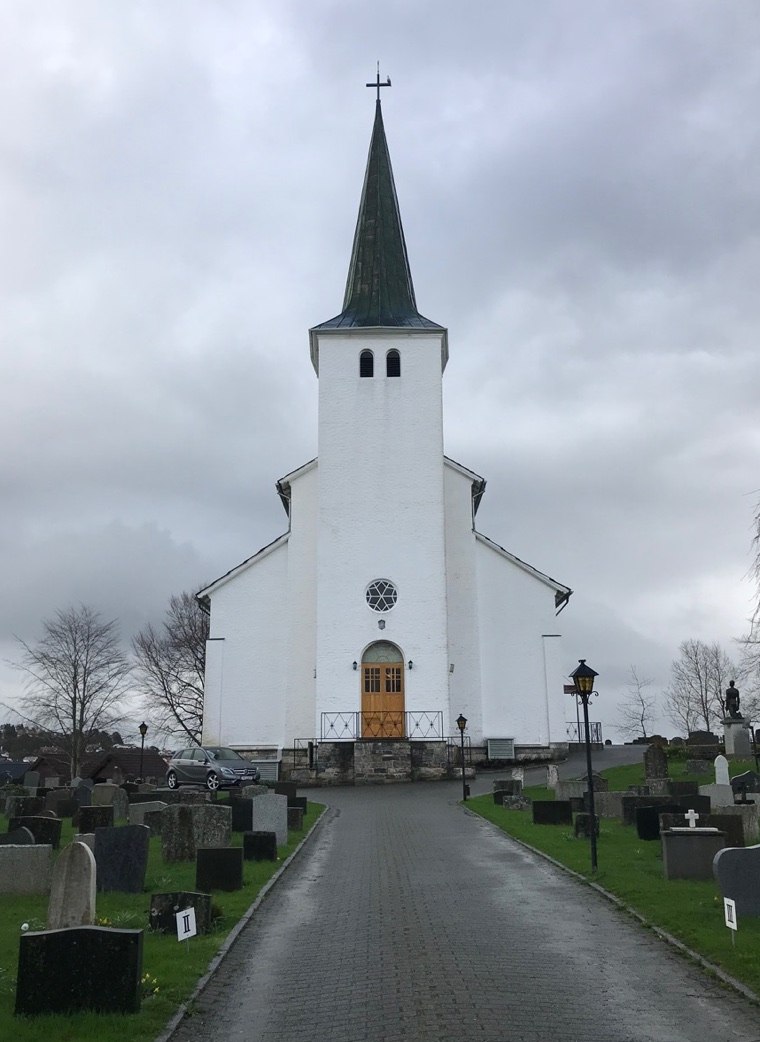 The beautiful Leirvik Church on the island of Stord in western Norway