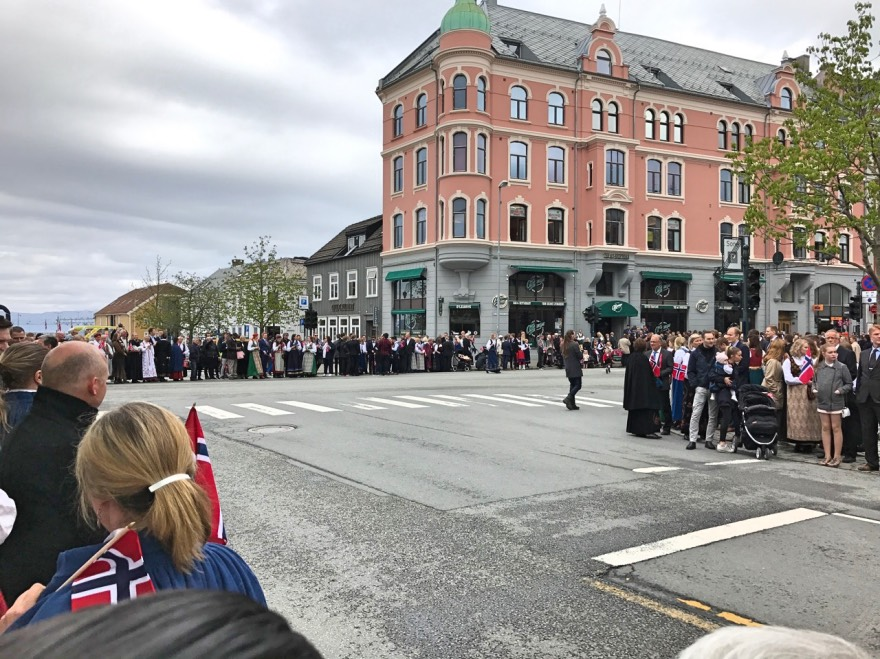 Waiting for the 17th of May parade in Trondheim, Norway