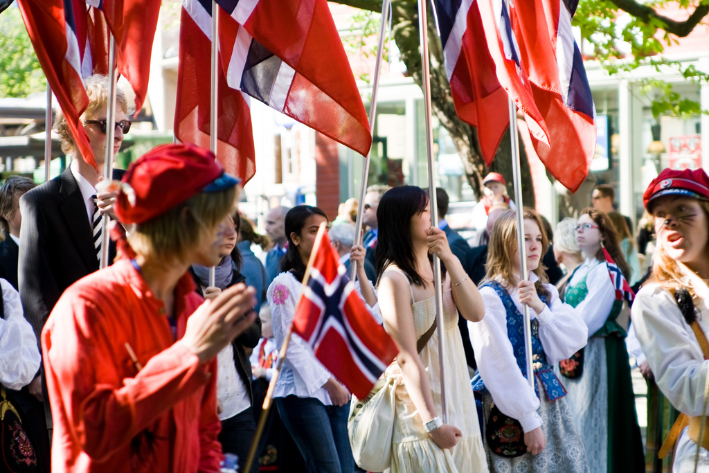 Norway folketoget on 17th May