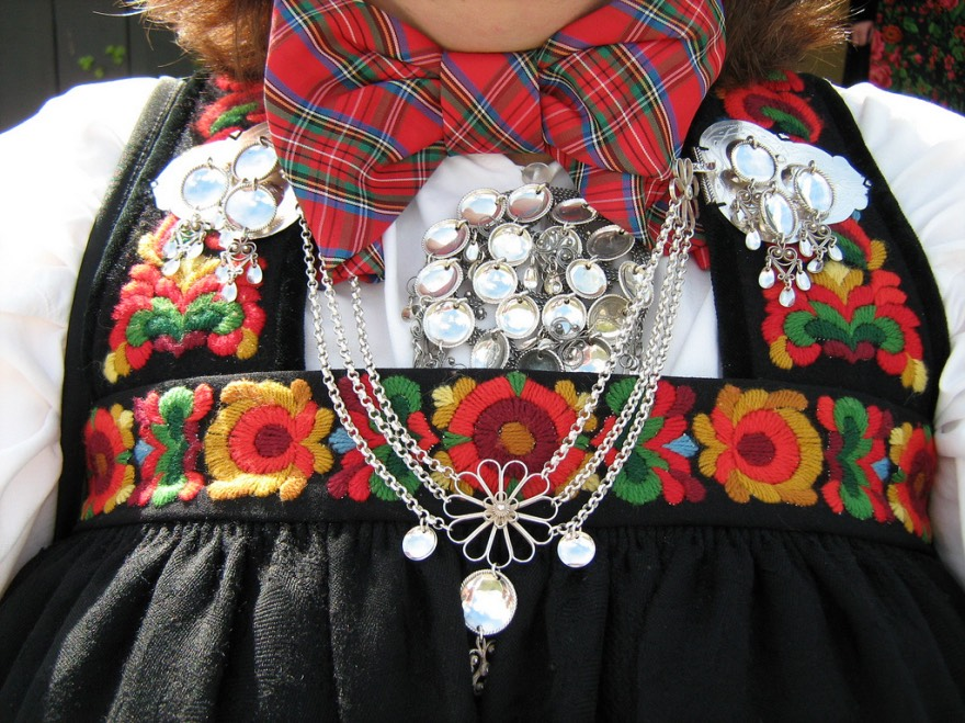 A typical Norwegian bunad from Hovet