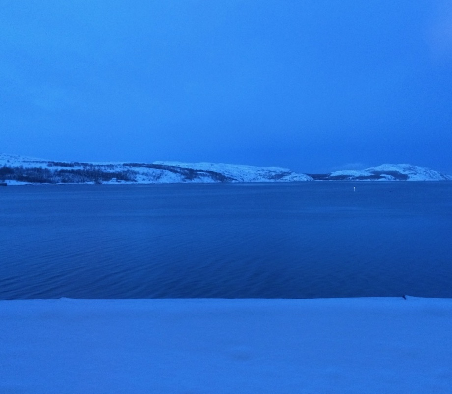 Blue hour in Kirkenes, Finnmark. This beautiful light phenomenon occurs during the winter months during twilight.