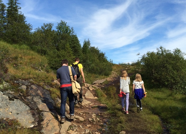 Hiking in Bymarka, Trondheim