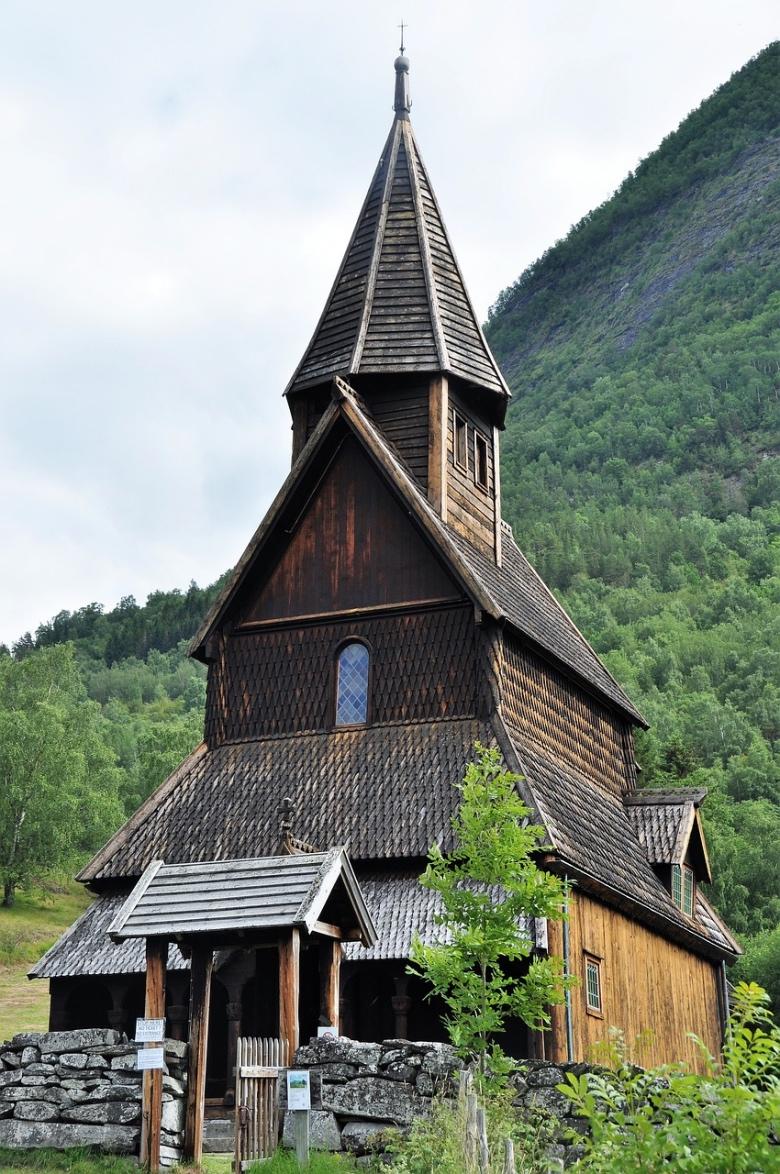 Beautiful Urnes Stave Church in Norway
