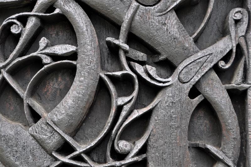 Detail on Urnes Stave Church in Sogn og Fjordane