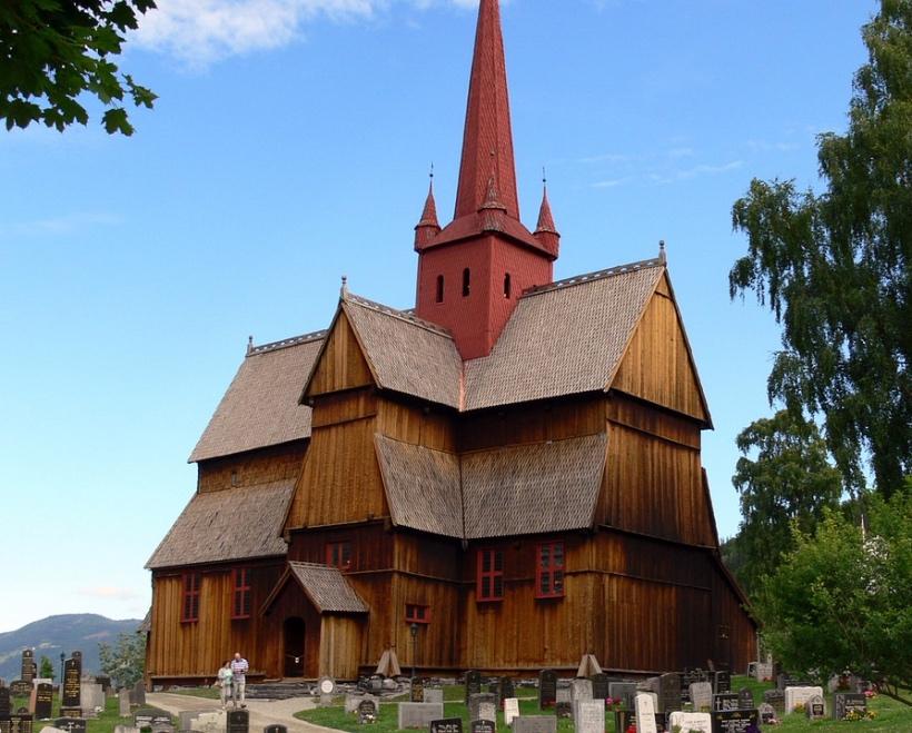 Ringebu church in Oppland, north of Oslo, Norway