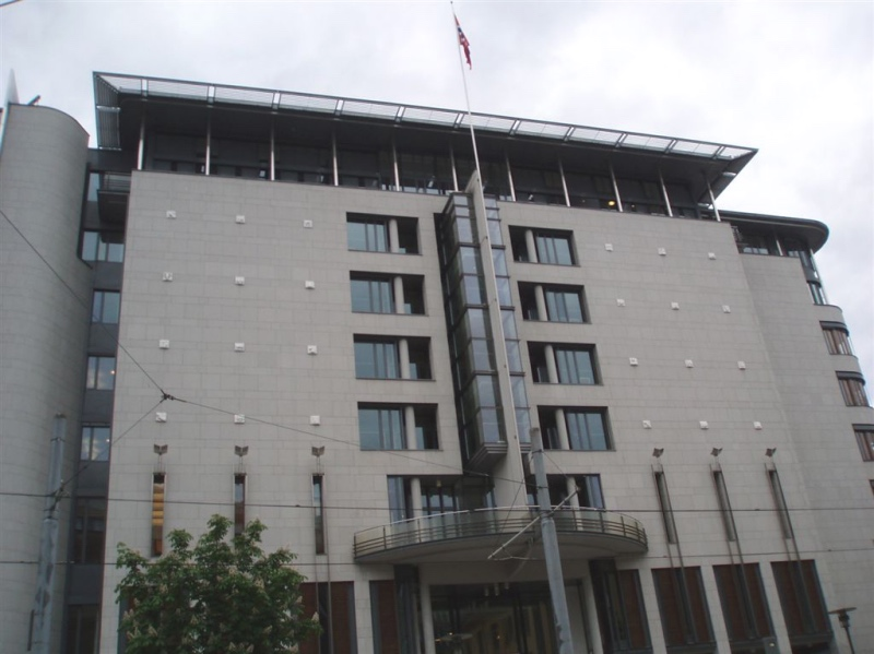 Exterior of Oslo Courthouse