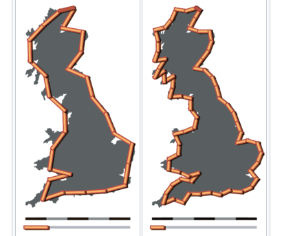 An example of the coastline paradox